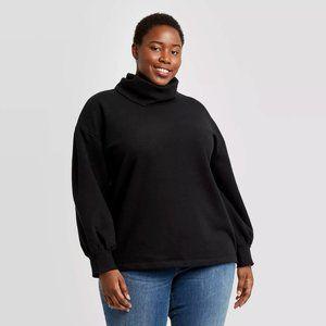 Ava & Viv Long Sleeve Sweatshirt Wmns Plus Size X
